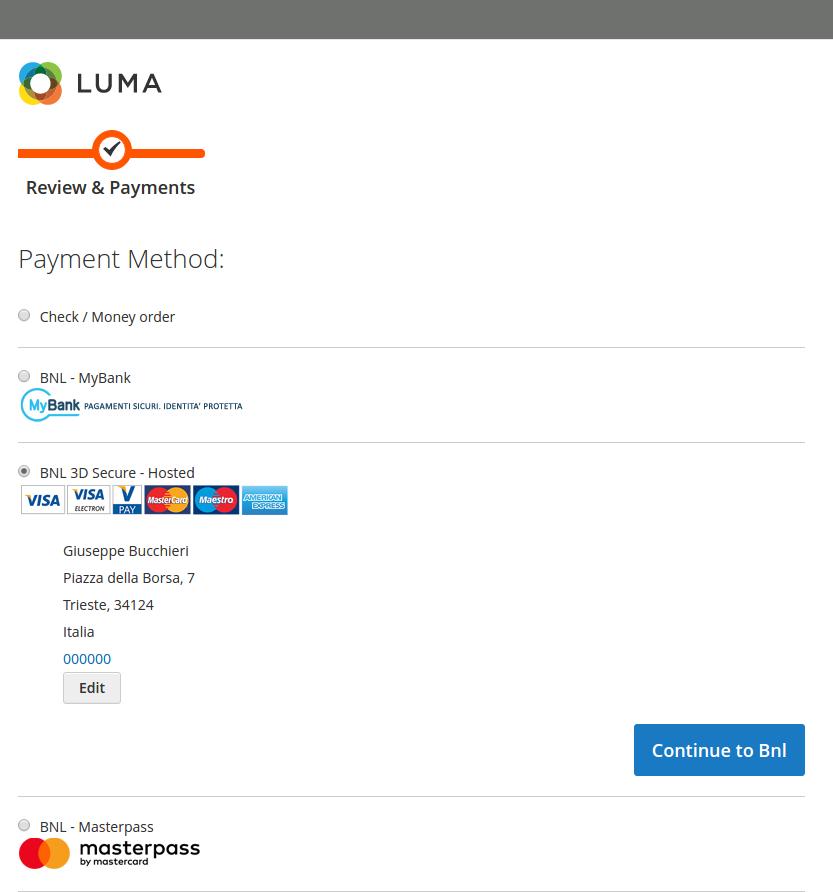 Modulo Ufficiale di Pagamento Axepta BNL ePOSitivity per Magento